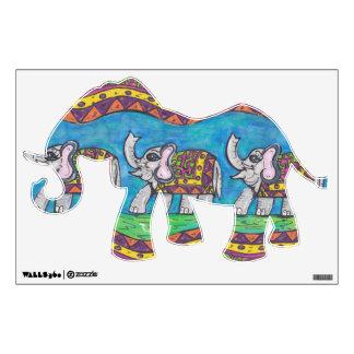 Groovy Elephant Parade Wall Decal