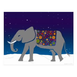 Groovy Elephant Postcard