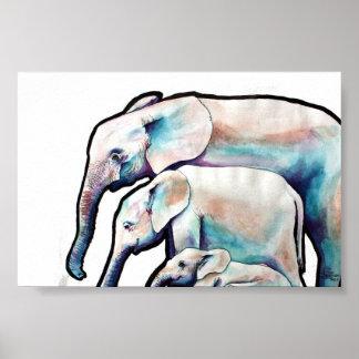 Groovy Elephants Poster