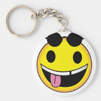 Groovy Face Key chain
