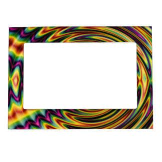 Groovy Far Out Fractal Magnetic Photo Frames