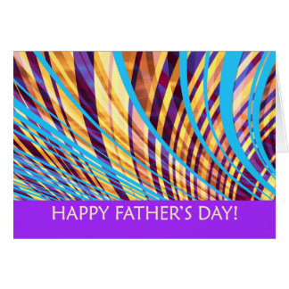 Groovy Father's Day Stripes Greeting Card