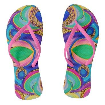 Beach Themed Groovy Feet Flip Flops