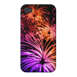 Groovy Fireworks Aglow iPhone 4 Case Savvy