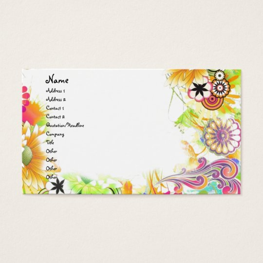 Groovy Floral Business Card
