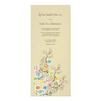 Groovy Flower Garden Wedding Invitation
