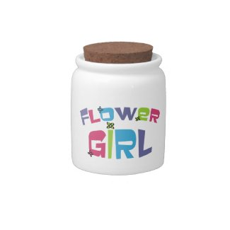 Groovy Flower Girl candy jar