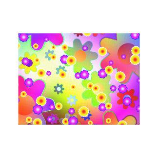 Groovy flower pattern. canvas print