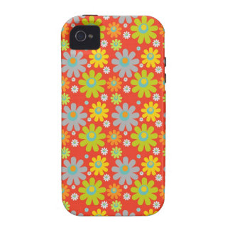 Groovy Flower Pattern iPhone Case iPhone 4/4S Cases