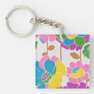 Groovy Flower Power Acrylic Keychain