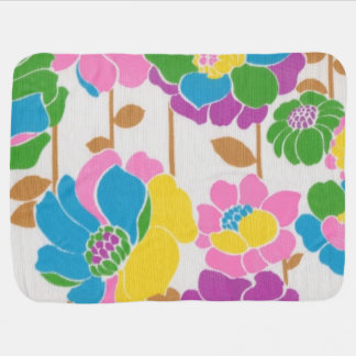 Groovy Flower Power Baby Blanket
