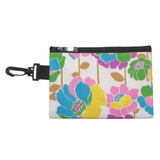 Groovy Flower Power Clip On Accessory Bag