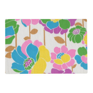 Groovy Flower Power Laminated Placemat
