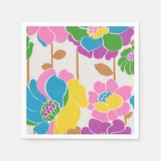Groovy Flower Power Paper Napkins