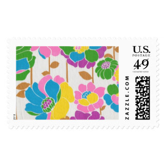 Groovy Flower Power Postage Stamps