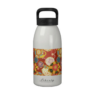 Groovy Flowers and Abstract Pattern Drinking Bottles