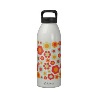 Groovy Flowers Reusable Water Bottles