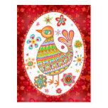 Groovy Folk Art Bird Postcards
