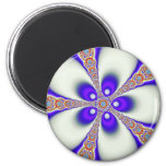 Groovy Fractal 2 Inch Round Magnet