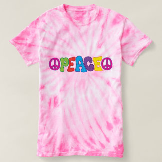 Groovy Fun Colorful 60s Style Peace Symbol T-shirt