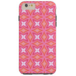 Groovy Funky Girly Pink Floral Butterfly Art Tough iPhone 6 Plus Case