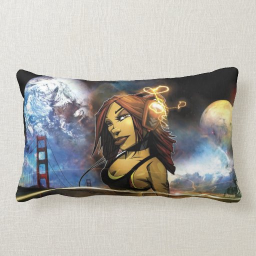 Groovy galaxy pillow
