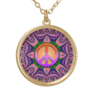 Groovy Geometry Peace Sign Necklace