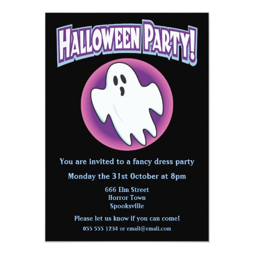 Groovy Ghost Halloween Invitation
