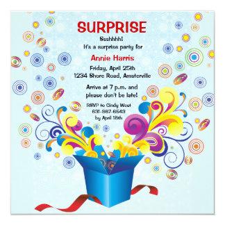 Groovy Gift Box Invitation