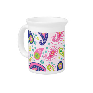 Groovy Girly Paisley Pitcher