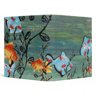 Groovy Goldfish Binder binder