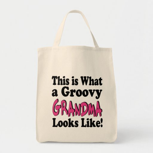 Groovy Grandma Grocery Tote Bag
