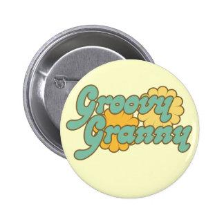 Groovy Granny Pinback Button