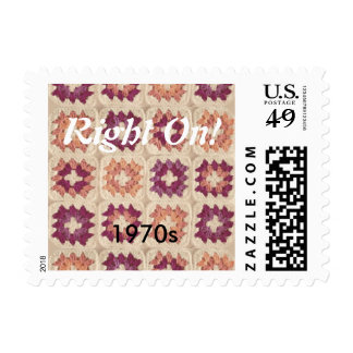 Groovy Granny Square Stamps 1970s