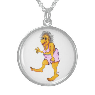 Groovy granny sterling silver necklace