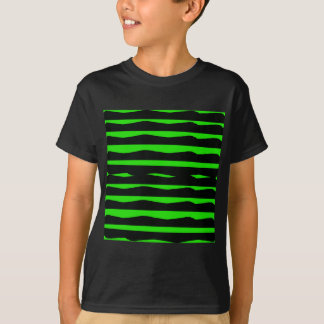 Groovy Green and Black Stripes T-Shirt