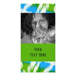 Groovy Green Blue Tie Dye Swirl Card