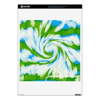 Groovy Green Blue Tie Dye Swirl Skin For The PS3 Slim