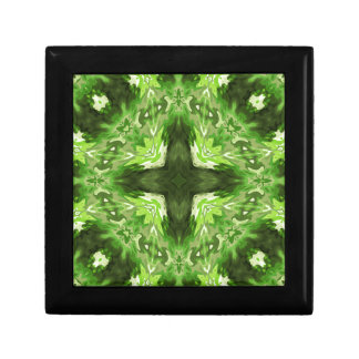 Groovy Green Graphic Trinket Boxes