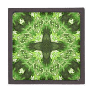 Groovy Green Graphic Premium Keepsake Box