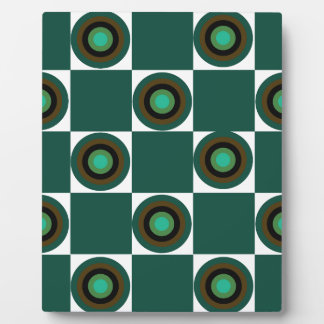 Groovy Green Orbs Plaque