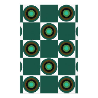 Groovy Green Orbs Stationery