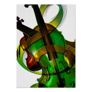 Groovy, Green Violin Posters