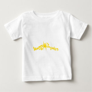 Groovy Happy Humanist Gold Baby T-Shirt