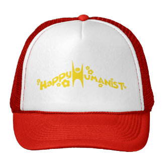 Groovy Happy Humanist Gold Trucker Hat