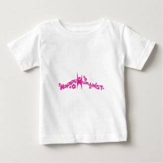 Groovy Happy Humanist Pink Baby T-Shirt