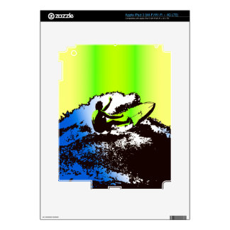 Groovy Hawaiian Surfer 1960's Retro iPad Skin