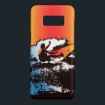 "Groovy Hawaiian Surfer 1960&#39;s Retro - Red Case-Mate Samsung Galaxy S8 Case<br><div class=""desc"">Red and Orange colorway. This surfer takes a psychedelic magic ride to world of flower power in this sixties retro design.</div>"