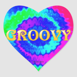Groovy Heart Stickers