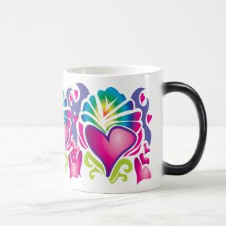 groovy heart wave magic mug